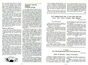 Il bollettino parrocchiale in cui si annuncia la nascita del gruppo scout (anno 1975)